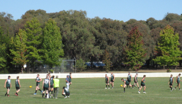 The Nomads warm up between matches at the 2008 Tablelands Cup