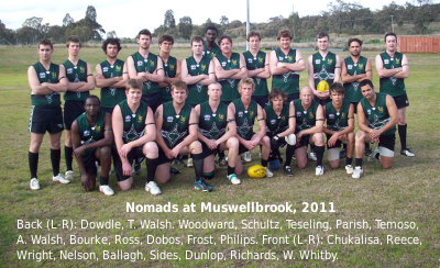 Team picture, away v Muswellbrook, 16 July 2011