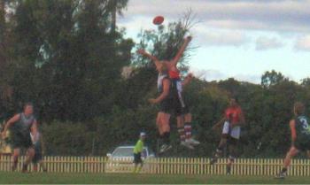 Josh Keogh rucking at Inverell, round 2, 2008
