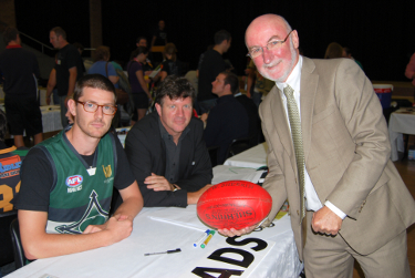 Nick Schultz, AdrianWalsh and Jim Barber at UNE O-week 2011