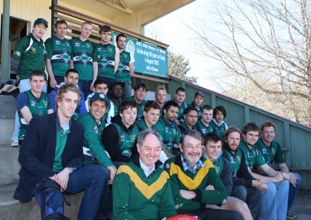 Bob Cason and Teddy Edwards with the 2012 Nomads squad