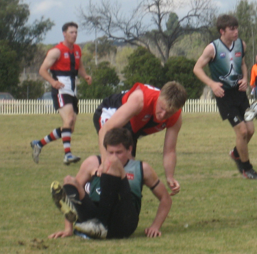 Sam Trotman was left dazed and confused following a high tackle